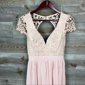 New Maniju Blush Lace Maxi Dress